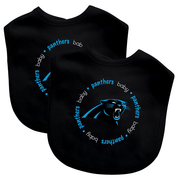 Bibs (2 Pack) - Carolina Panthers-justbabywear