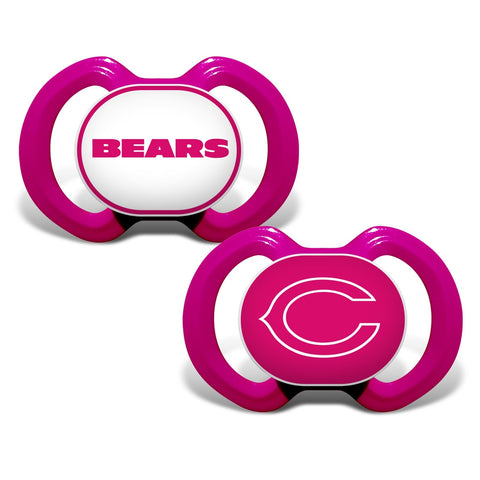 Gen. 3000 Pacifier 2-Pack - Pink - Chicago Bears-justbabywear