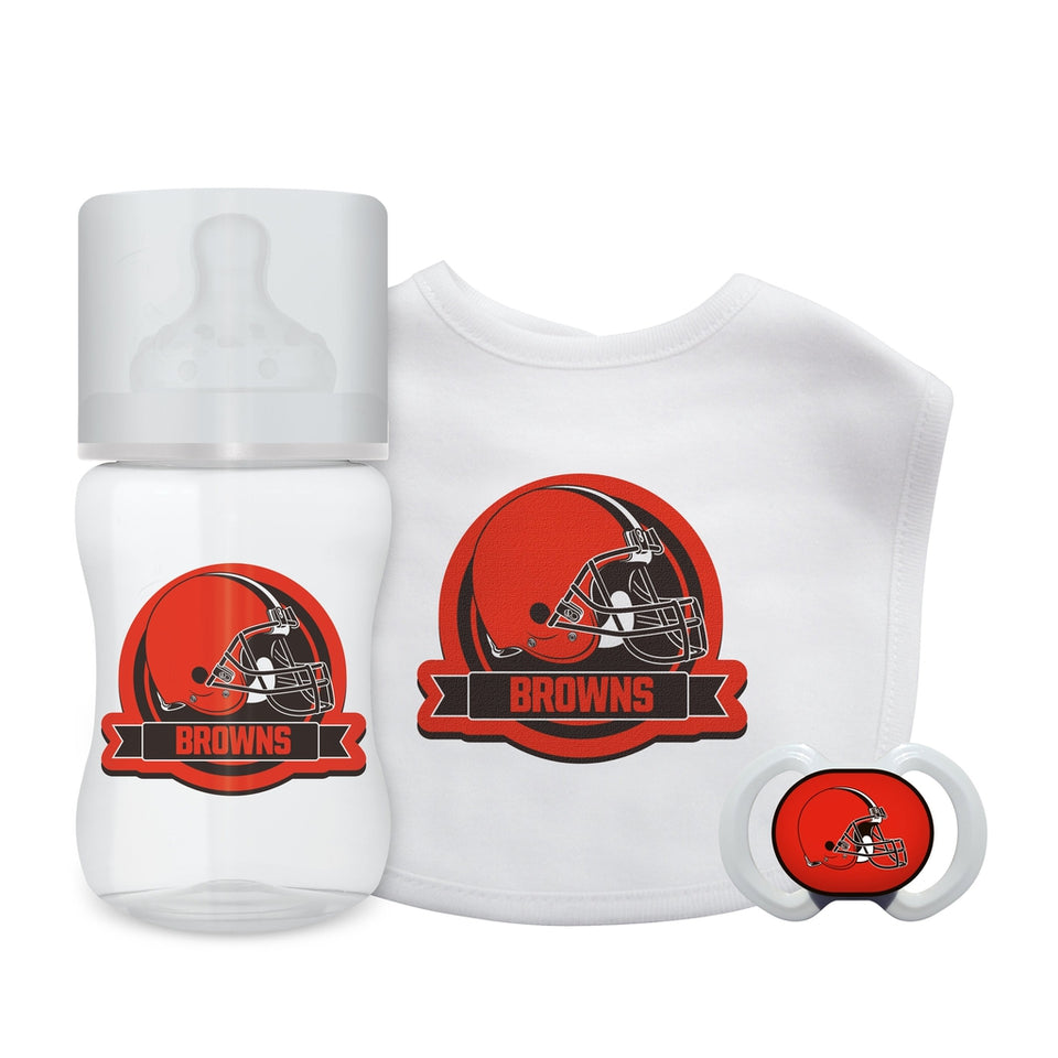 3-Piece Gift Set - Cleveland Browns-justbabywear