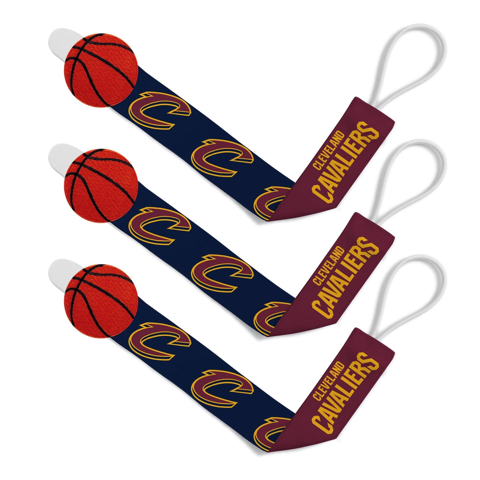 Pacifier Clip (3 Pack) - Cleveland Cavaliers-justbabywear