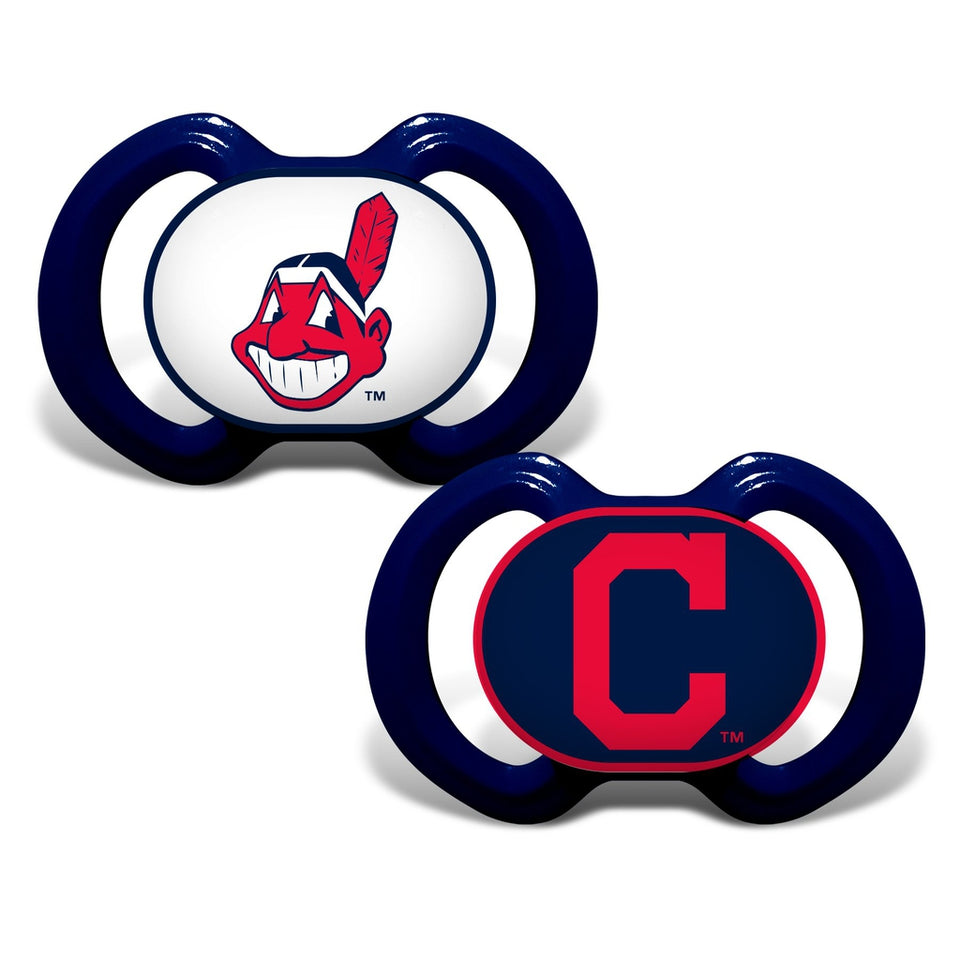 Gen. 3000 Pacifier 2-Pack - Cleveland Indians-justbabywear