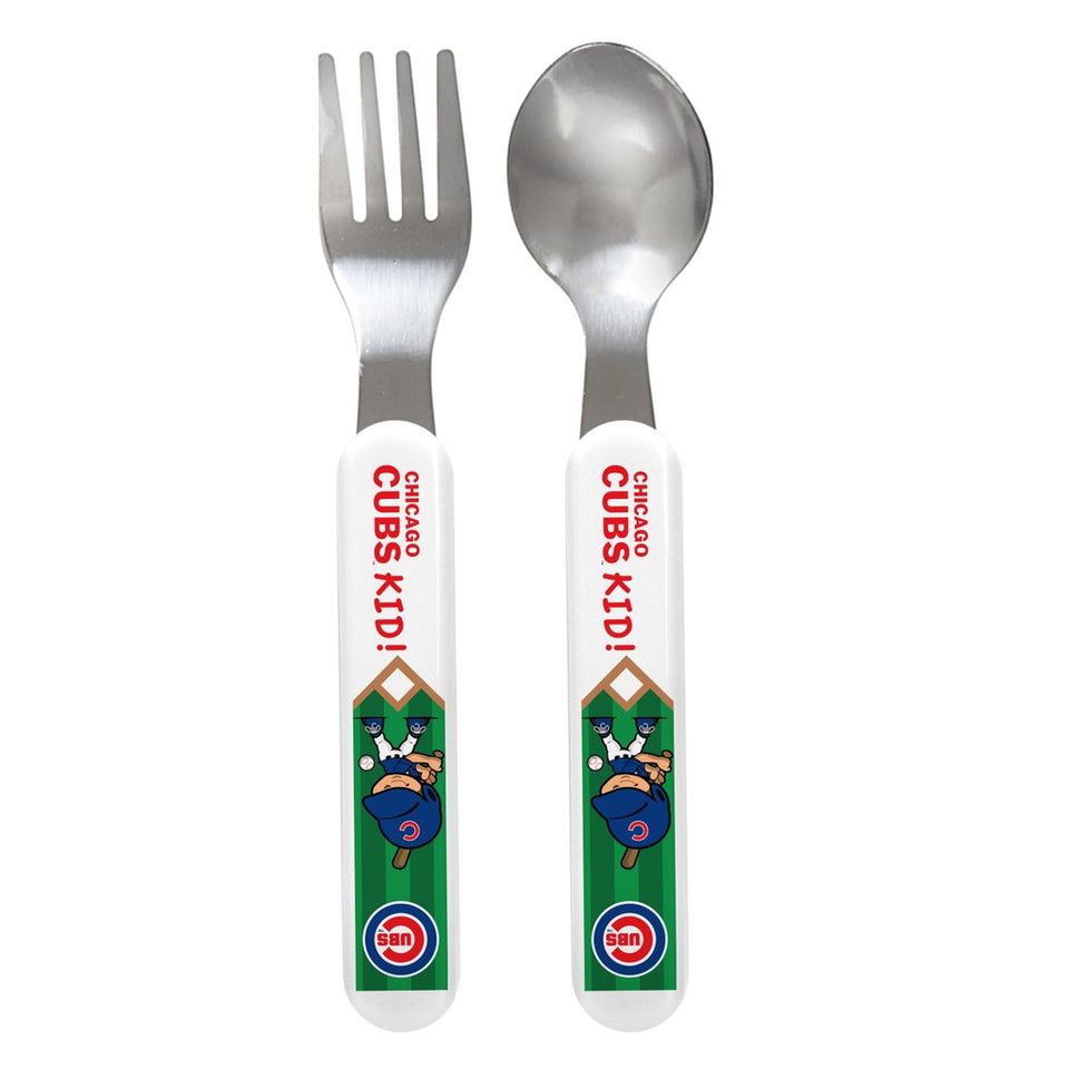 Fork & Spoon Set - Chicago Cubs-justbabywear