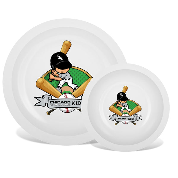 Plate & Bowl Set - Chicago White Sox-justbabywear