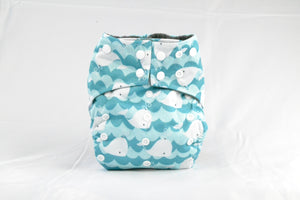 Earthlie Cloth Diaper - Whales