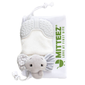 Organic Teething Mittens - Molly the Elephant