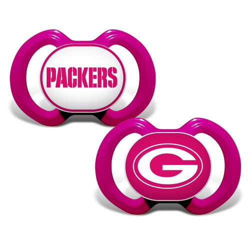 Gen. 3000 Pacifier 2-Pack - Pink - Green Bay Packers-justbabywear