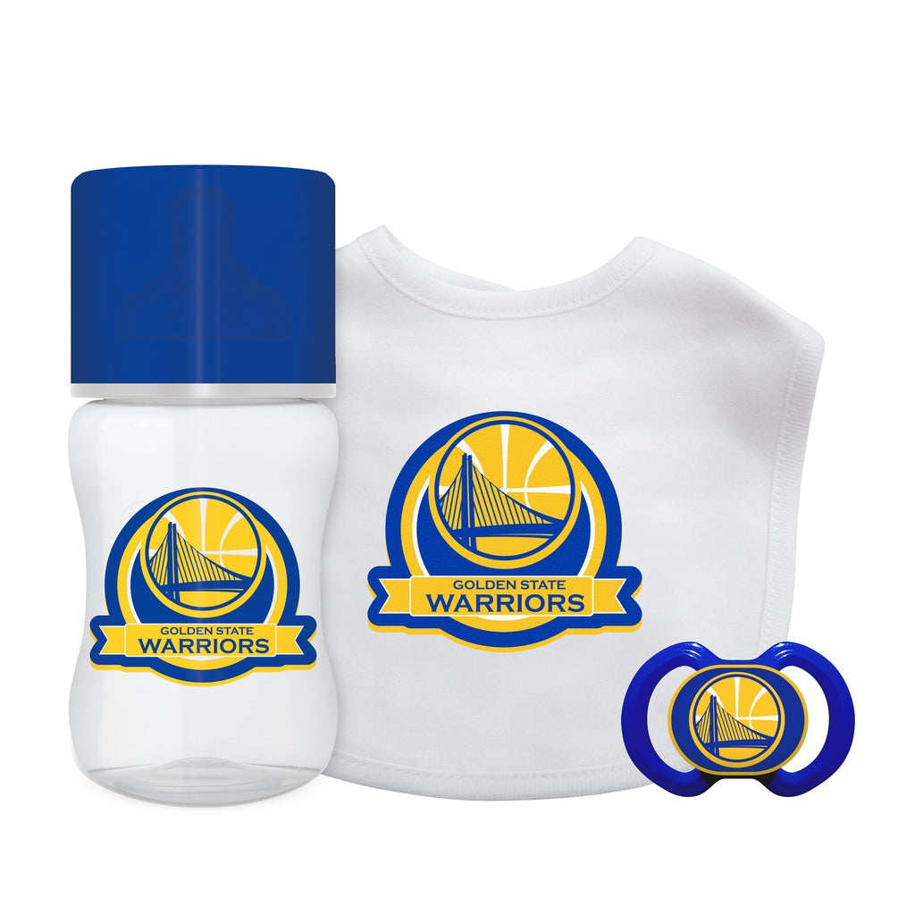 3-Piece Gift Set - Golden State Warriors-justbabywear