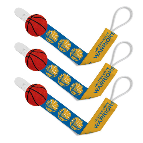 Pacifier Clip (3 Pack) - Golden State Warriors-justbabywear