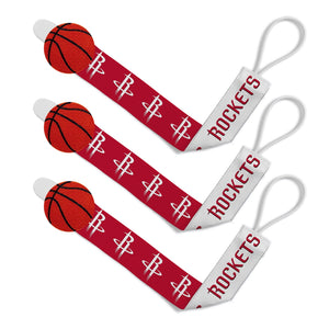 Pacifier Clip (3 Pack) - Houston Rockets-justbabywear