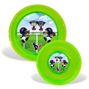 Plate & Bowl Set - Houston Texans-justbabywear