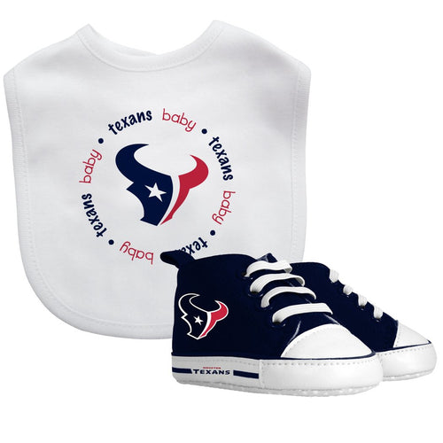 Bib & Prewalker Gift Set - Houston Texans-justbabywear