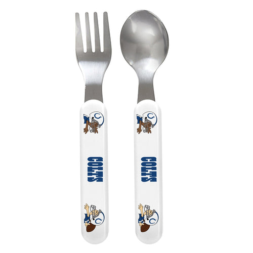 Fork & Spoon Set - Indianapolis Colts-justbabywear