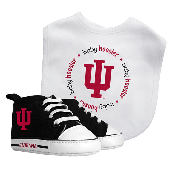 Bib & Prewalker Gift Set - Indiana, University of-justbabywear