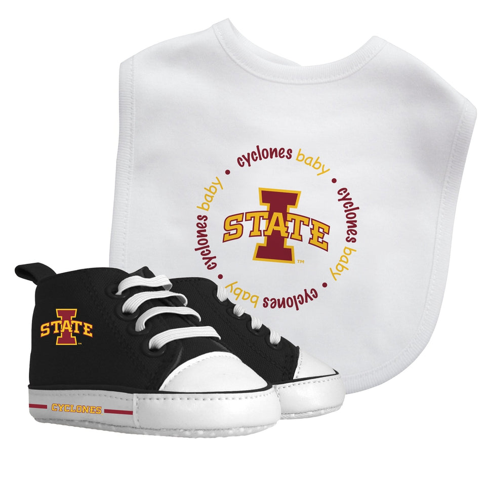 Bib & Prewalker Gift Set - Iowa State University-justbabywear