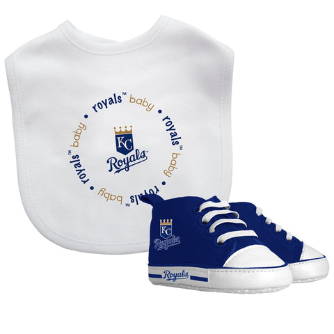 Bib & Prewalker Gift Set - Kansas City Royals-justbabywear
