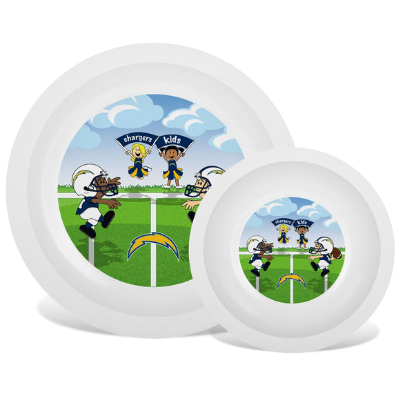 Plate & Bowl Set - Los Angeles Chargers-justbabywear