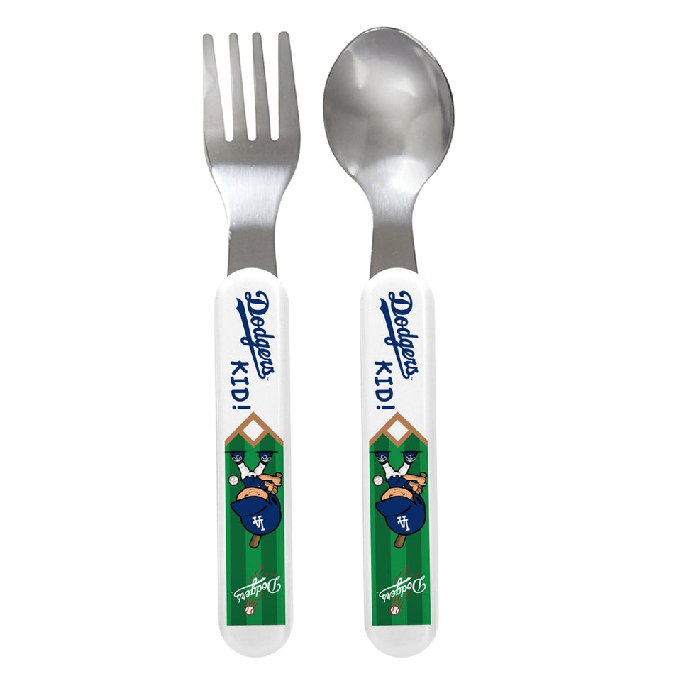 Fork & Spoon Set - Los Angeles Dodgers-justbabywear