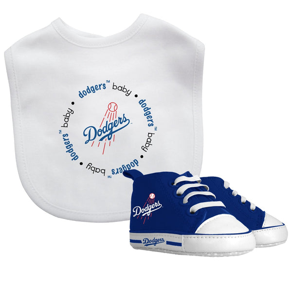 Bib & Prewalker Gift Set - Los Angeles Dodgers-justbabywear