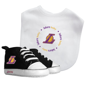 Bib & Prewalker Gift Set - Los Angeles Lakers-justbabywear