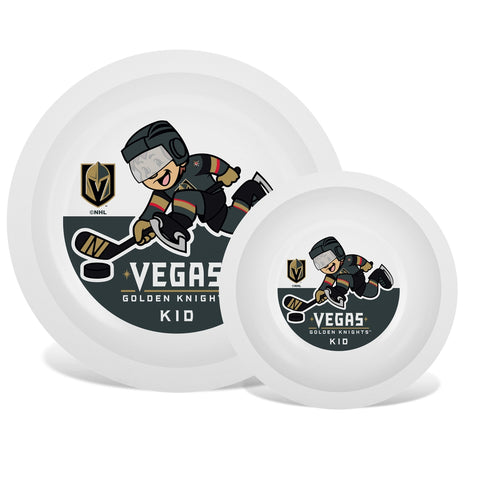 Plate & Bowl Set - Las Vegas Golden Knights-justbabywear