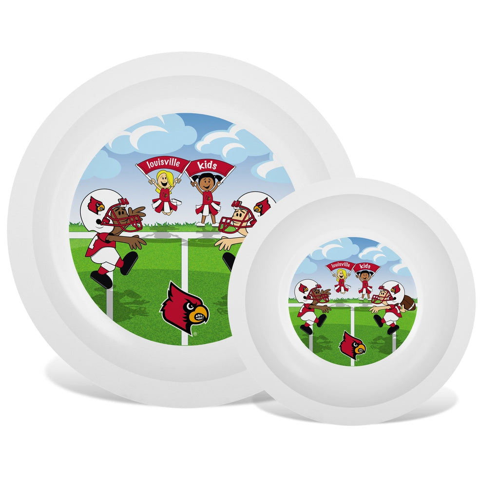 Plate & Bowl Set - Louisville, University of-justbabywear