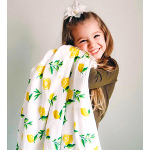 Lemon print 4 Layer Muslin Toddler Blanket