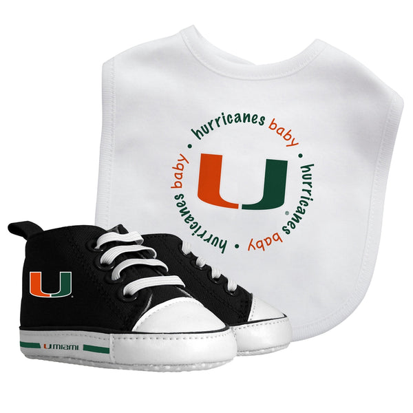 Bib & Prewalker Gift Set - Miami, University of-justbabywear