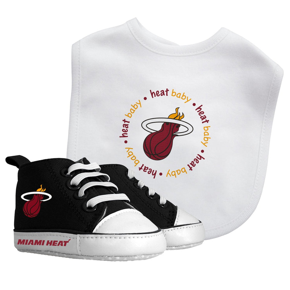 Bib & Prewalker Gift Set - Miami Heat-justbabywear