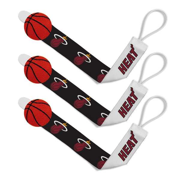 Pacifier Clip (3 Pack) - Miami Heat-justbabywear