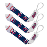 Pacifier Clip (3 Pack) - Minnesota Twins-justbabywear