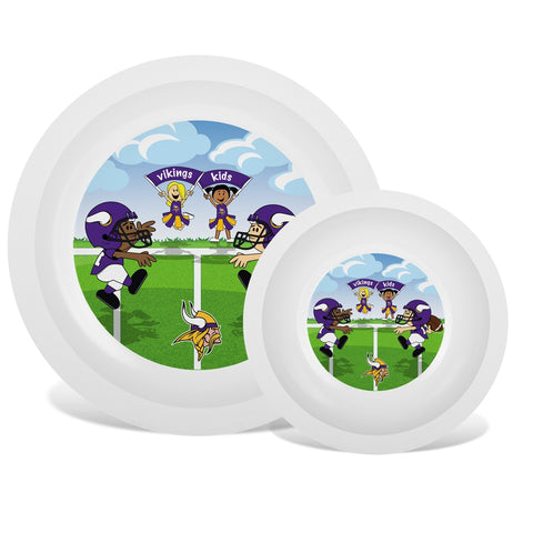 Plate & Bowl Set - Minnesota Vikings-justbabywear