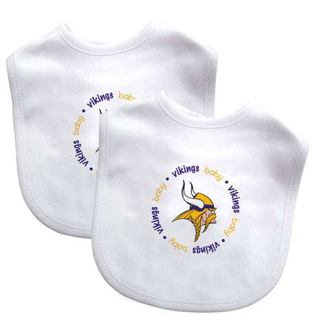 Bibs (2 Pack) - Minnesota Vikings-justbabywear