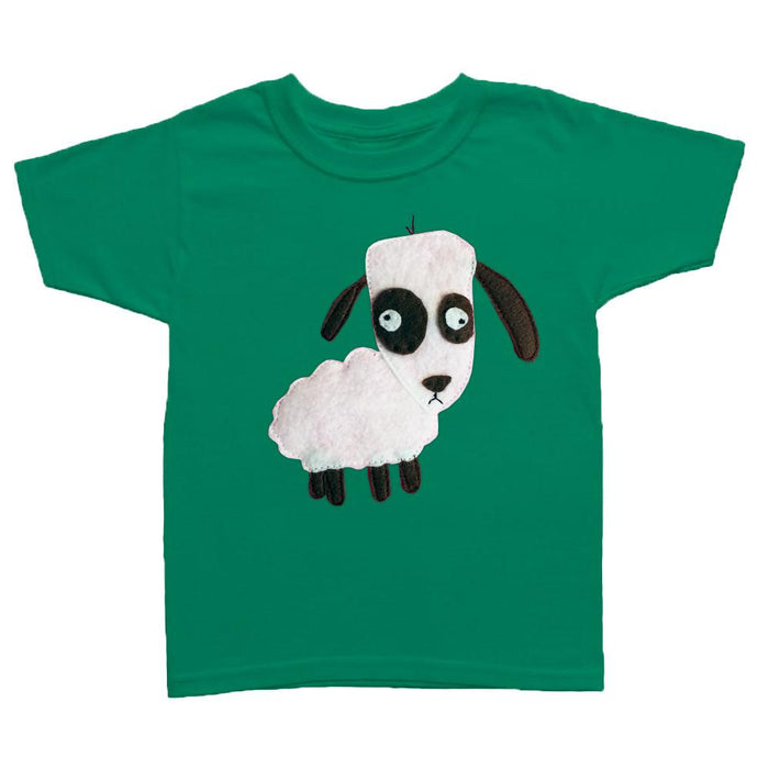 Kids Baby Boy T-shirt - Sheep - mi cielo x Matthew Langille - green