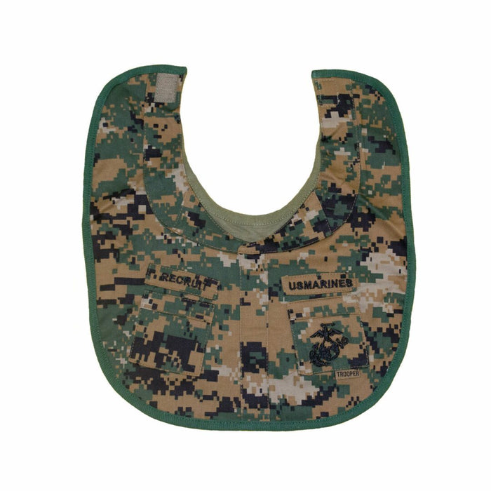 Marines Woodland Recruit Baby Bib