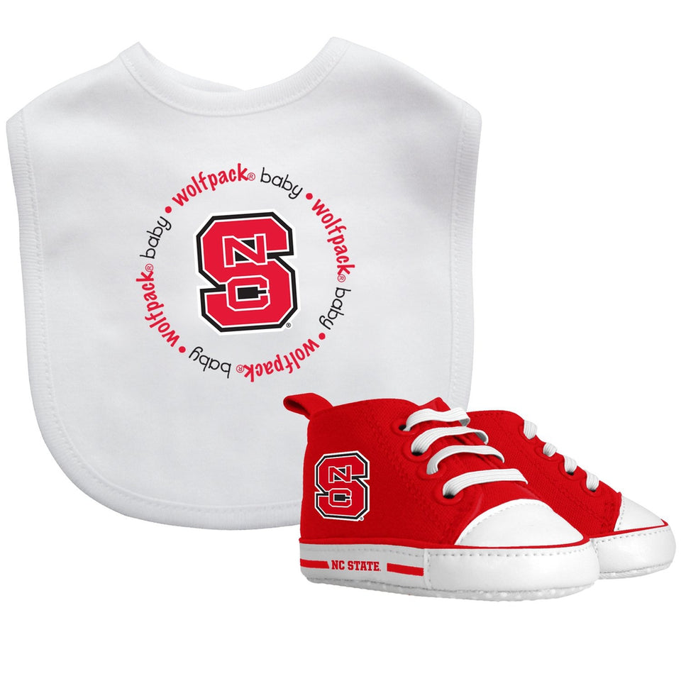 Bib & Prewalker Gift Set - North Carolina State University-justbabywear