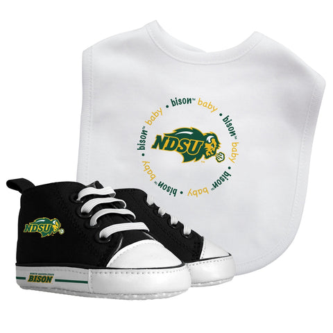 Bib & Prewalker Gift Set - North Dakota State University-justbabywear