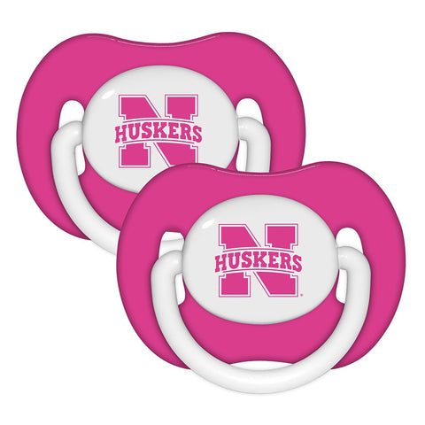 Pacifier (2 Pack) - Nebraska, University of Pink-justbabywear