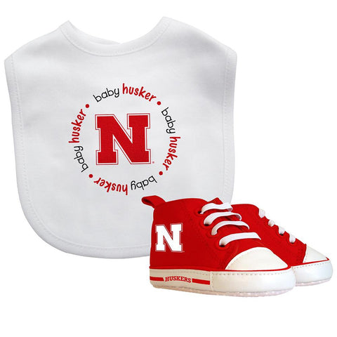 Bib & Prewalker Gift Set - Nebraska, University of-justbabywear