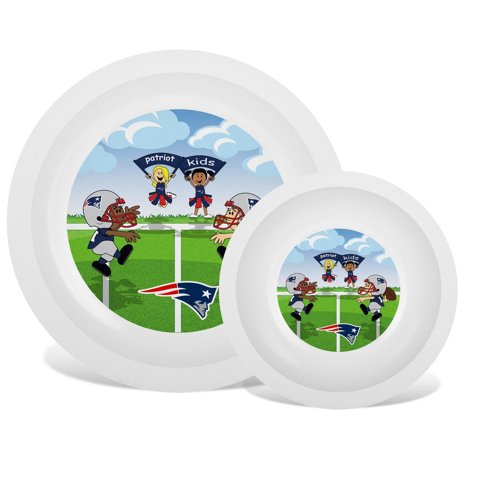 Plate & Bowl Set - New England Patriots-justbabywear