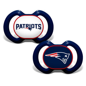 Gen. 3000 Pacifier 2-Pack - New England Patriots-justbabywear