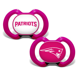 Gen. 3000 Pacifier 2-Pack - Pink - New England Patriots-justbabywear