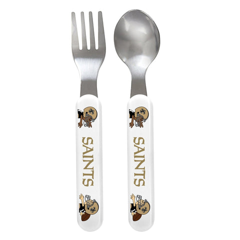 Fork & Spoon Set - New Orleans Saints-justbabywear