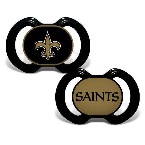 Gen. 3000 Pacifier 2-Pack - New Orleans Saints-justbabywear