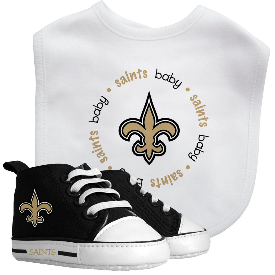 Bib & Prewalker Gift Set - New Orleans Saints-justbabywear
