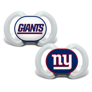 Gen. 3000 Pacifier 2-Pack - New York Giants-justbabywear