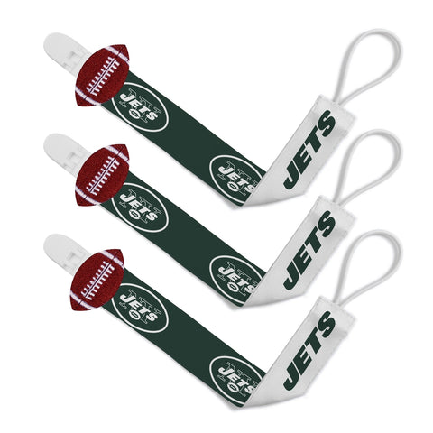 Pacifier Clip (3 Pack) - New York Jets-justbabywear