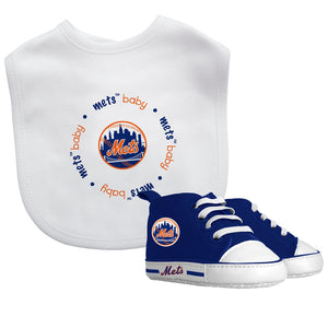 Bib & Prewalker Gift Set - New York Mets-justbabywear