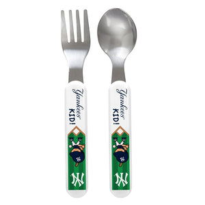 Fork & Spoon Set - New York Yankees-justbabywear
