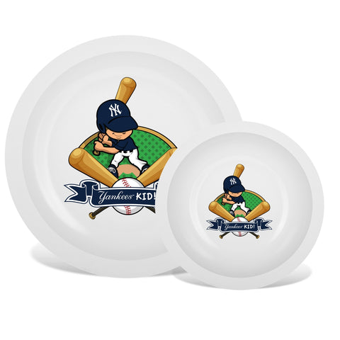 Plate & Bowl Set - New York Yankees-justbabywear