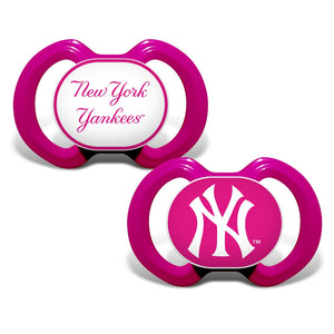 Gen. 3000 Pacifier 2-Pack - Pink - New York Yankees-justbabywear